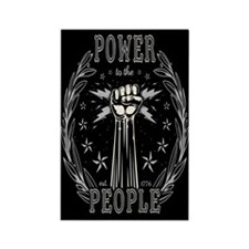 Power to the People 0715 Rectangle Magnet