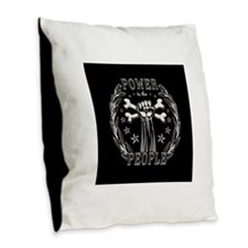 Power to the People 0715 Burlap Throw Pillow