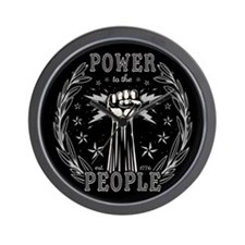 Power to the People 0715 Wall Clock