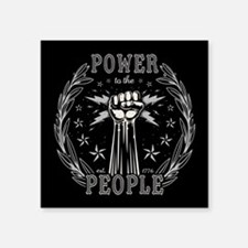 "Power to the People 0715 Square Sticker 3"" x 3"""