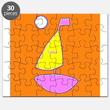 Custom Yoko Orange Sailboat Sailing Puzzle