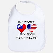 Half Taiwanese Half American Bib