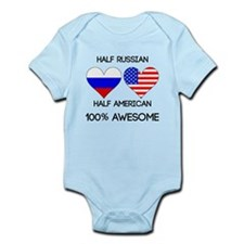 Half Russian Half American Body Suit