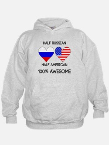 Half Russian Half American Hoodie