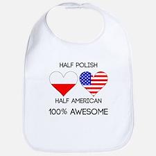 Half Polish Half American Bib
