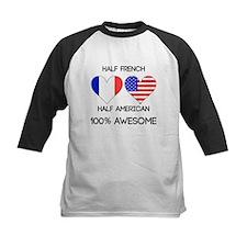 Half French Half American Baseball Jersey