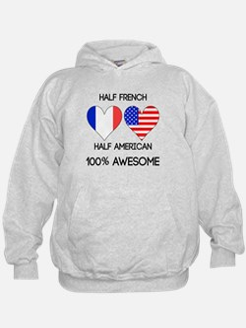 Half French Half American Hoodie