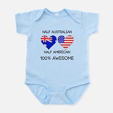 Half Australian Half American Body Suit