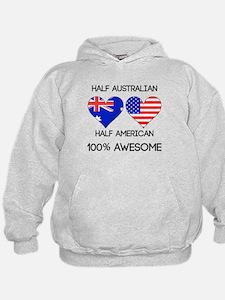 Half Australian Half American Hoodie