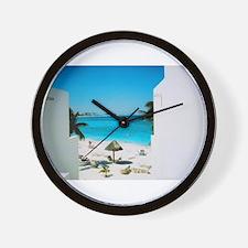 Tropical View Wall Clock