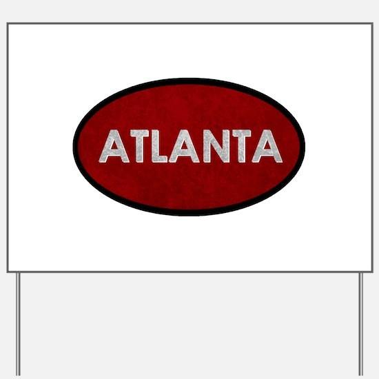 ATLANTA Red Stone Yard Sign