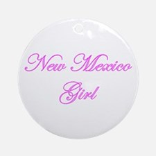 New Mexico Girl Ornament (Round)