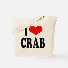 I Love Crab Tote Bag