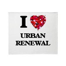 I love Urban Renewal Throw Blanket