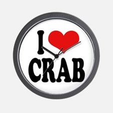 I Love Crab Wall Clock
