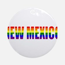 New Mexico Pride Ornament (Round)