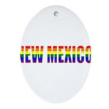 New Mexico Pride Oval Ornament
