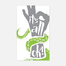 It's all OK Scuba Diver Sticker (Rectangle)