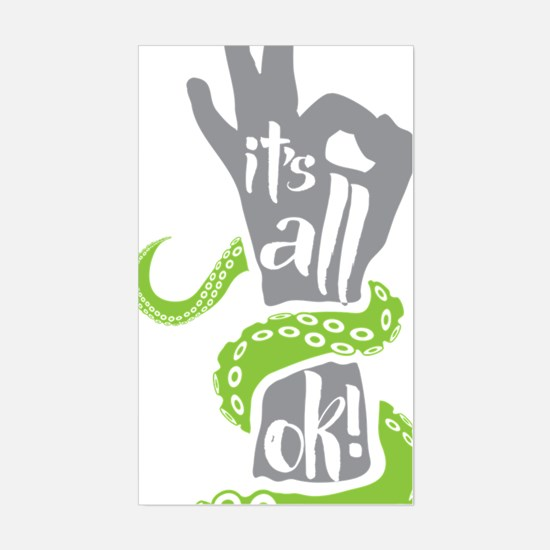 It's all OK Scuba Diver Sticker (Rectangle)
