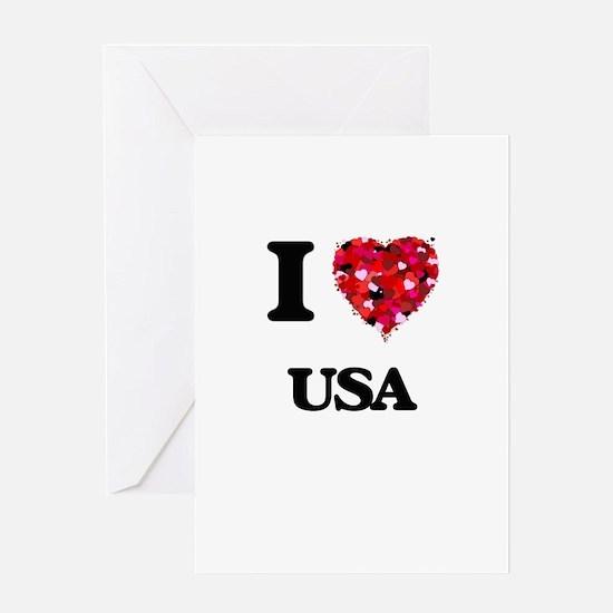 I love Usa Greeting Cards