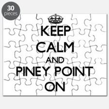 Keep calm and Piney Point Massachusetts ON Puzzle