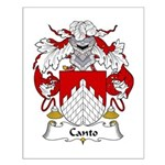 Canto Family Crest Small Poster