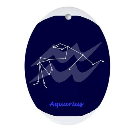 Aquarius Oval Ornament