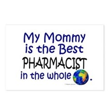 Best Pharmacist In The World (Mommy) Postcards (Pa