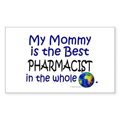 Best Pharmacist In The World (Mommy) Sticker (Rect