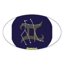 Gemini Oval Bumper Stickers