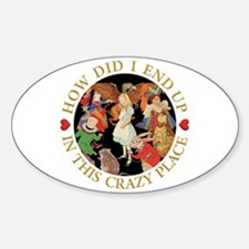 How Did I End Up In the Crazy Place Sticker (Oval)