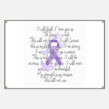 Purple Ribbon, poem Banner