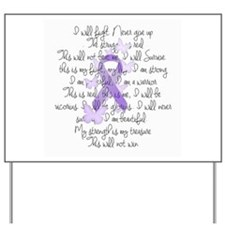 Purple Ribbon, poem Yard Sign