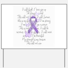 Purple Ribbon, poem Yard Sign