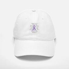 Purple Ribbon, poem Baseball Baseball Cap