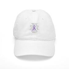 Purple Ribbon, poem Baseball Cap