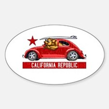 California Republic Surfer Bear Decal
