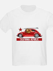 California Republic Surfer Bear T-Shirt