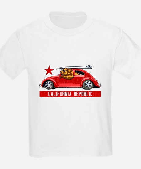 California Republic Surfer Bear T-Shirt