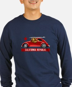 California Republic Surfer Bear Long Sleeve T-Shir