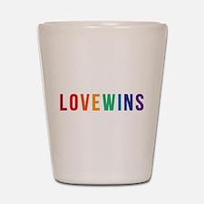 LOVE WINS Shot Glass