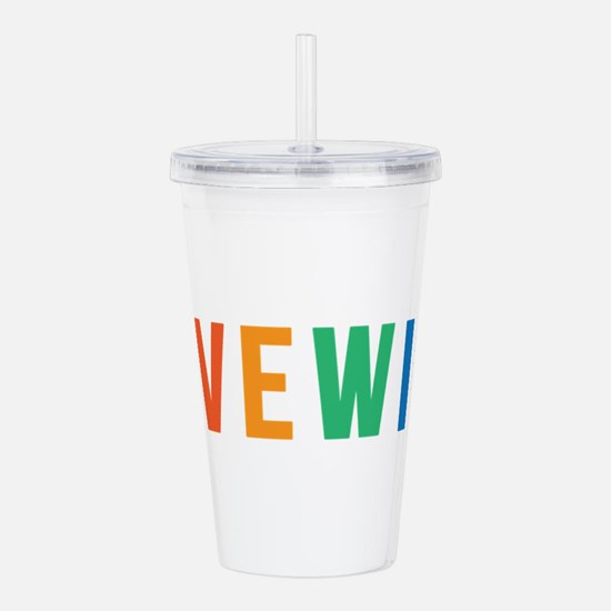 LOVE WINS Acrylic Double-wall Tumbler