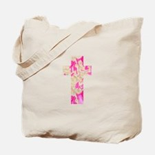 Pink Art Cross for Charlotte Tote Bag