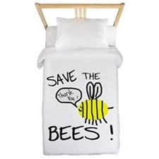 save the bees.png Twin Duvet