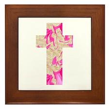 Pink Art Cross for Charlotte Framed Tile