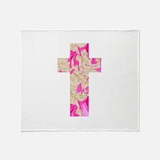 Pink Art Cross for Charlotte Throw Blanket