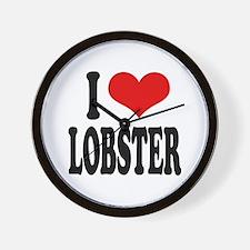 I Love Lobster Wall Clock