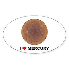 I Love Mecury Oval Decal