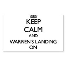 Keep calm and Warren'S Landing Massachuset Decal