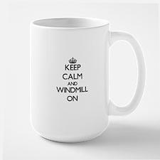 Keep calm and Windmill Massachusetts ON Mugs